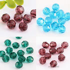 50 Faceted Round Glass Crystal Loose Spacer Bead Jewelry Findings 8mm HOT SALE