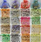 25/50/100pcs Organza Jewelry Packing Pouch Wedding Favor Gift Bags 9x7cm 18style