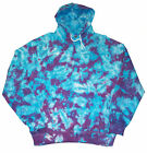 Tie Dye Hoodie Blue and Purple Scrunch by Sunshine Clothing dyed in the UK