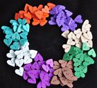 5 or 15 Wooden Heart Shaped Buttons cardmaking scrapbooking sewing 20mm from UK