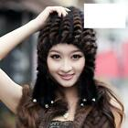 90090 new real knitted mink &wool line fur  2 color hat/caps