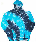 Tie Dye Kids Hoodie Two Blue Hand dyed by Sunshine Clothing  in the UK