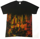 Halloween Tie Dye Fire Effect , all sizes, Hand dyed in the UK