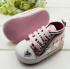 Soft Sole Baby girl Pink love Toddler shoes Crib Shoes.SIZE 6-15 Months