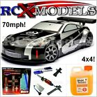 Fast RC Nitro Nissan 350Z Race Car Radio Remote Control Petrol Race Drift 4WD UK