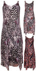 Womens New Animal Printed Lace Ladies Sleeveless Strappy Lined Dress Plus Size
