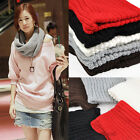 HOT! Women Winter Warm Infinity Cable Knit Cowl Neck Long Scarf Shawl Xmas Gifts