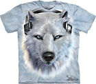NEW WHITE WOLF DJ Wolves Headphones Manimals The Mountain T Shirt Adult Sizes