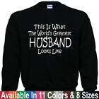 Worlds Greatest HUSBAND Fathers Day Christmas Dad Papa Gift Pullover Sweatshirt
