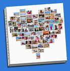 christmas present gift heart  collage canvas print picture custom personal