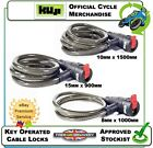 NEW KUJI KEY OPERATED LOCK SECURITY CABLE LOCKING SECURE CHAIN CYCLE RANGE