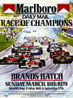 Brands Hatch 1979 Marlboro Race Of Champions Poster Art Print
