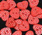 20/40 small wooden heart polkadot buttons / embellishments COLOUR CHOICE / MIXED
