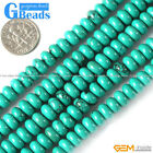 "Rondelle Gemstone Natural Turquoise Loose Beads Strand 15"" Jewelery Making Beads"