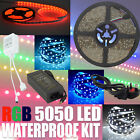 5M 5050 RGB SMD LED Strip Light +44Key IR Remote Controller+Power Supply Adapter