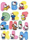 New Cute Hello Kitty 3D Alphabet Stickers Hello Kitty Raised Relief Sticker