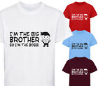 I'M THE BIG BROTHER SO I'M THE BOSS DESIGNER T-SHIRT TSHIRT KIDS CHILDRENS