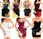 New bodycon cocktail party peplum dress vintage going out all colours 6 - 14 uk