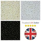 100 x 8mm Round Glass Pearl Beads Jewellery Craft Beading Various Colours