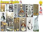 5 CHANDELIER DROPS DROPLETS PRISMS ANTIQUE LOOK CRYSTALS CUT GLASS LIGHT PARTS