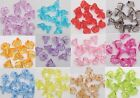 New Wholesale 200pcs Clear Acrylic Trumpet LovelyFlower Beads For Jewelry making