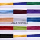 New 2.5mm Red/Black/White/Roseo/Blue Various colors Elastic Cord For Craft 10m