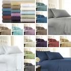 4-Piece Extra Deep Pocket Vintage Crochet Lace Hem Best Sheet Set-18 colors