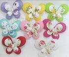 20-60 pcs Padded Felt 2 layers Butterfly Applique A021  U PICK