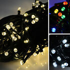Battery Operated 100 LED Christmas Xmas Lights Chain With 8 Flashing Settings