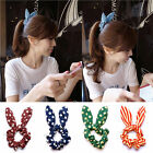 Sweet Big Rabbit Ear Bow Headband Ponytail Holder Hair Tie Band Korean Style Hot