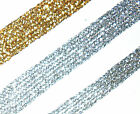 STUNNING METALLIC TRIM 10MM OR 15MM WIDE X2 MTRS, SILVER OR GOLD ART 656/653