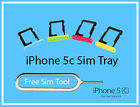 iPhone 5c Sim Tray Replacement - Free Sim Tool- Fast 1st Class Delivery Nano Sim