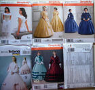 Sewing pattern Simplicity  misses civil war costume /dress/gown /underpinnings