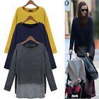 2013 Hot  Womens Ladies Celebrity Bat sleeve Loose Top Dress Tops IN 3Color XS-M