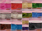 "5 yards Organza Ribbon 3/8 5/8 7/8 1 1/2 "" inch black red blue green white pink"