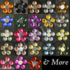 100 Pcs Acrylic Crystal Round FlatBack Rhinestones Gems Lot Colors 8 Side Cut