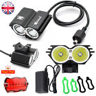 2014 XM-L2 SolarStorm Mountain Bike Light Bicycle Black X2 2 Cree LED Lights Set