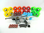 "Gunmetal 10"" 42 Degree Double Barrel V2 Longboard Trucks + 70mm Blank Pro Wheels"