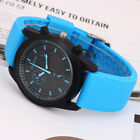 Character Convex Black Dial Girls' Rubber Strap Quartz Watch 4 Colors New