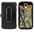 Belt Clip Shockproof Dirtproof Tree Case Camo for Samsung Galaxy S4 i9500 /Xtra