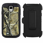 Belt Clip Shockproof Dirtproof Tree Case Camo for Samsung Galaxy S4 i9500 Black