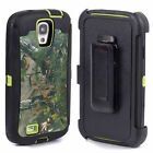 Belt Clip Shockproof Dirtproof Tree Case Camo for Samsung Galaxy S4 i9500 Green