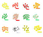 New 100pcs Fruit Fimo Slices for Acrylic Nail UV Builder Gel Nail Art Decoration