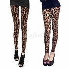 Stylish Women's Brown Leopard Velvet Slim Leggings Tights Thin Thicken to Choose