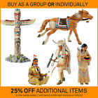 New BULLYLAND plastic toy western indian cowboy models NATIVE AMERICAN FIGURES