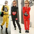 Womens Casual Thicken Letter Hoodie Set Sweatshirts Long Pants Sports Suit