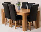 KUBA SOLID OAK 180 DINING TABLE WITH 6 OR 8 WASHINGTON DINING CHAIRS