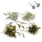 110Pcs/Pack New 5 Colors Ear Coil Wire Gun Metal Bead Earring Fish Hooks Finding