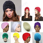 Stretchy Sleep Hat Chemo Bandana Hijab Pleated Indian Cap Turban Head Wrap Band