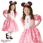 FANCY DRESS COSTUME ~ GIRLS DISNEY PINK SPOTTY MINNIE MOUSE AGES 3-8 YEARS
